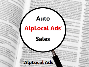 AlpLocal Auto Sales Mobile Ads