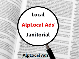 AlpLocal Local Janitorial Mobile Ads