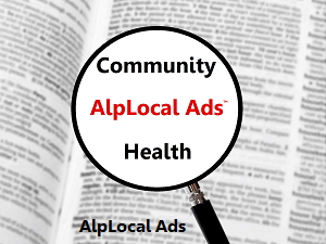 AlpLocal Community Health Mobile Ads